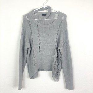 Chicwish Tattered Grunge Style Sweater